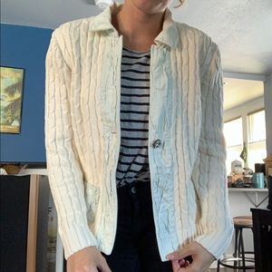 Blue Willi's Denmark Cable Knit Sweater Jacket